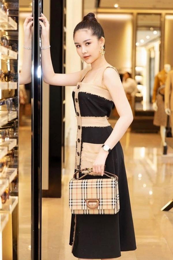 Soi gu thời trang Hoa hậu Lê Âu Ngân Anh, trang phục lên giảng đường toàn item 'đắt xắt ra miếng' 6