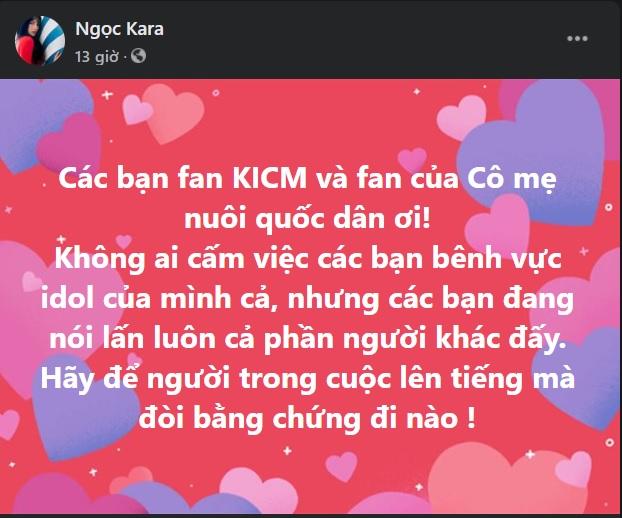Những status được Ngọc Kara đăng tải khiến dân tình xôn xao