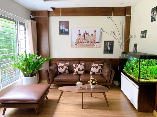 Căn phòng được trang trí nội thất hiện đại.