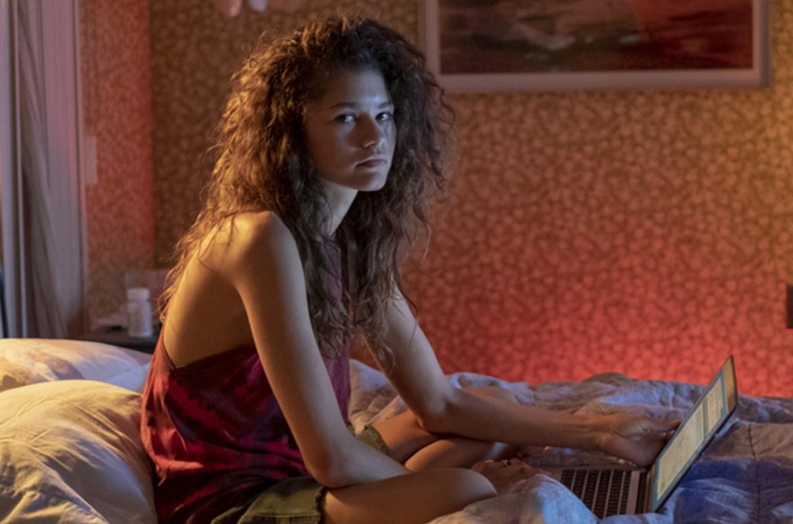 Tạo hình của Zendaya trong 'Euphoria'.