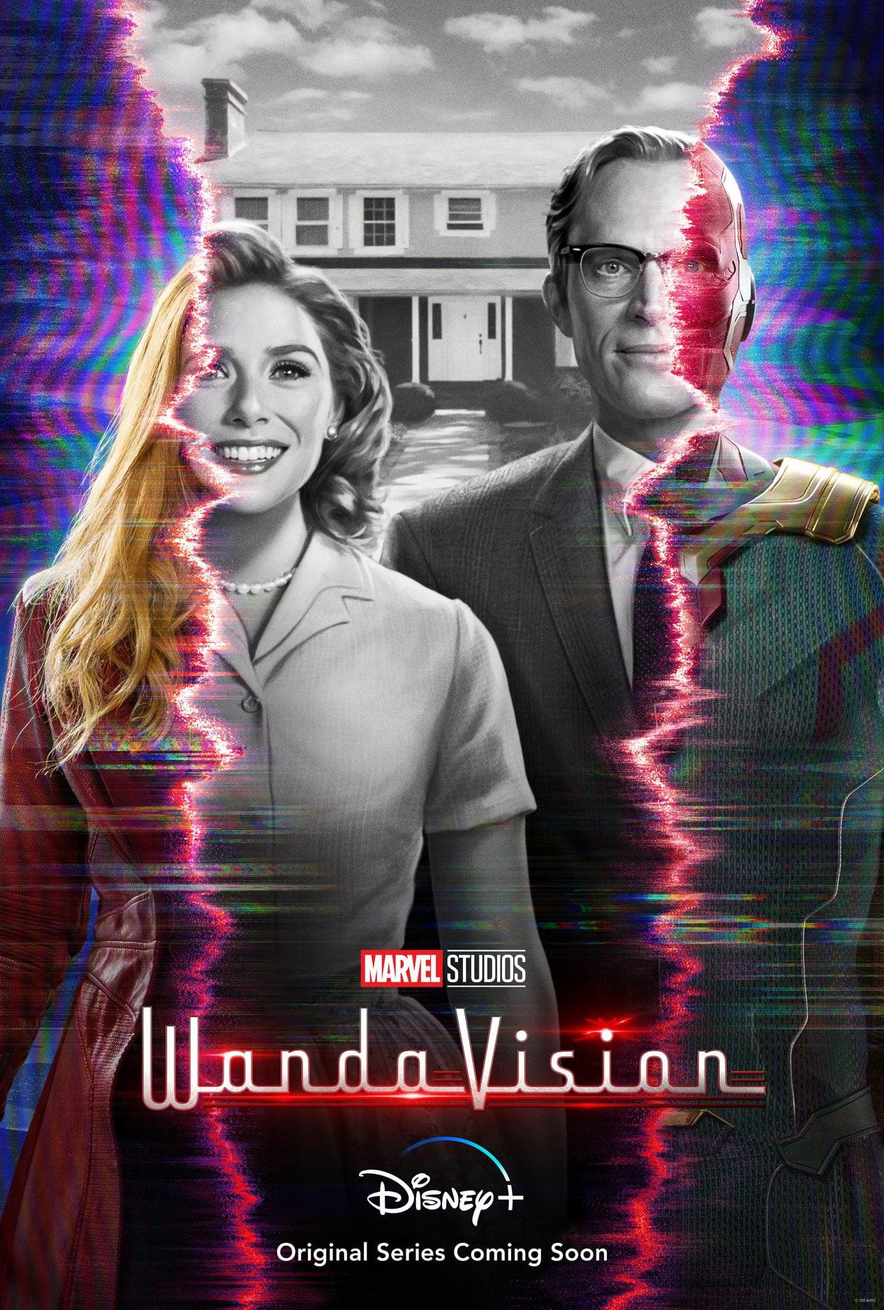 Poster chính thức của 'WandaVision'.