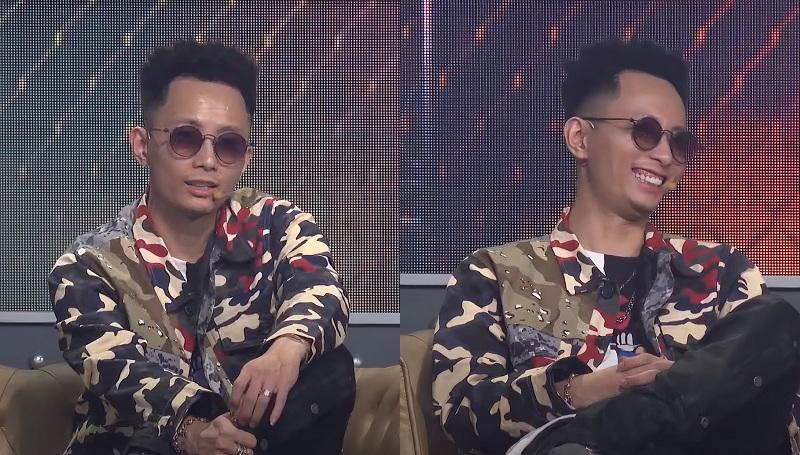 'Danh hài'Rhymastic của Rap Việt 2020 tiếp tục diện chiếc áo họa tiết bắt mắt. Set outfits với item jacket cameo 2.4 triệu đồng được tô điểm cùng chiếc quần local band quen thuộc và không quên chiếc kính mắt sang chảnh Tavat Soupcan Pantos 12 triệu đồng.
