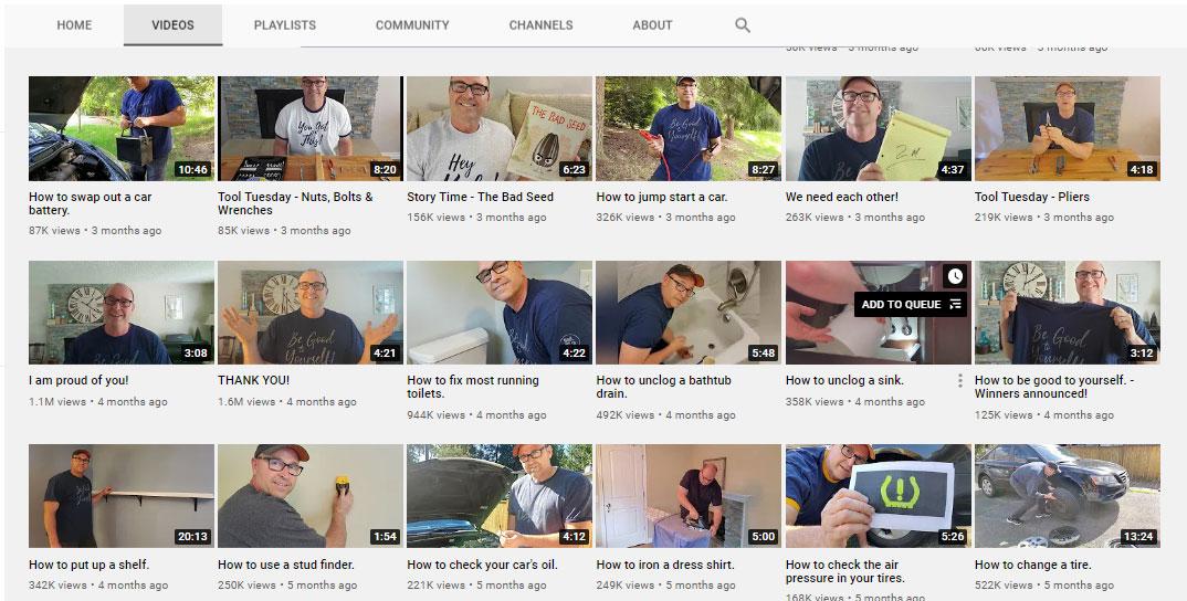 Nội dung của những video này là những việc mà hầu hết đứa trẻ nào cũng sẽ cần nhờ bố mình giúp.