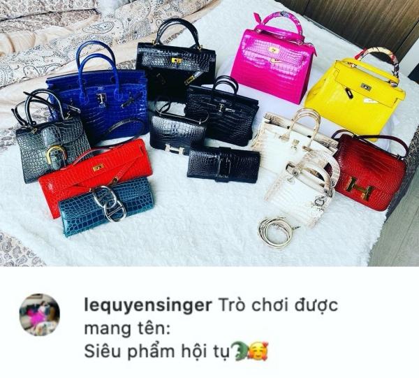 Tổng cộng có 10 chiếc túi của Hermes, còn lại là những chiếc túi Lady Dior và Delvaux, cũng rất đắt đỏ và khó sắm