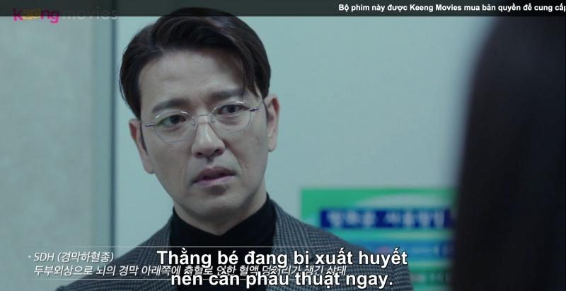 Do máu chảy quá nhiều, gây tụ máu đông nên Yoo Bin cần phải phẫu thuật
