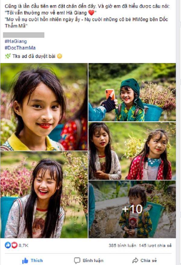 Bộ ảnh em bé Hà Giang được rất nhiều người quan tâm.