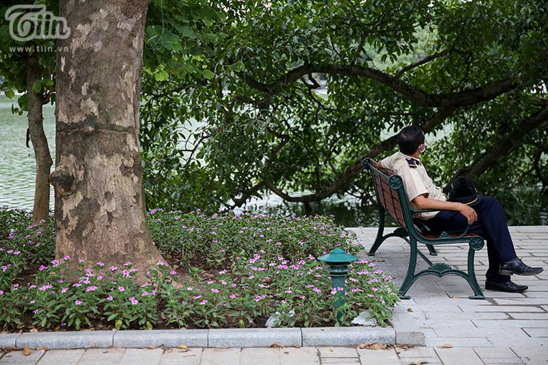 Vườn hoa hồ Hoàn Kiếm được 'thay áo mới' đẹp ngỡ ngàng trong tiết thu 12
