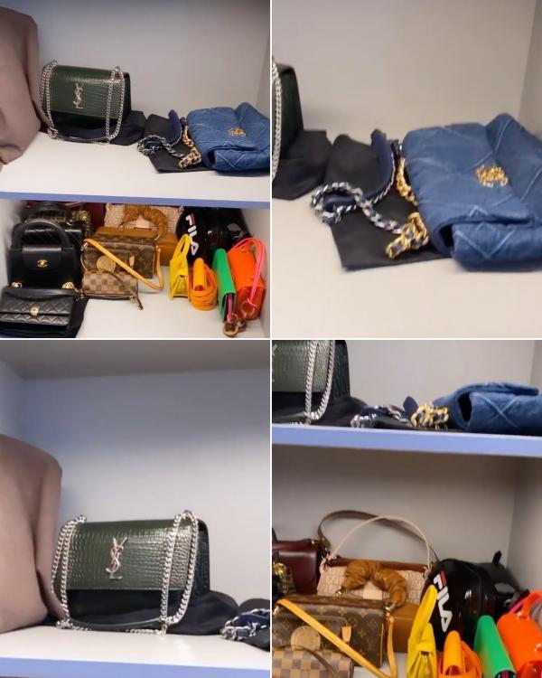 Tóc Tiên chia sẻ hình ảnh tủ túi xách của mình chỉ còn lại vài chiếc yêu thích nhất