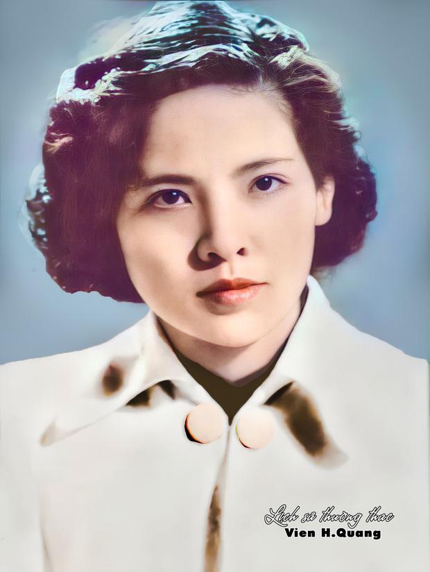 Nhan sắc của bà Phạm Thị Bạch Thược qua ảnh phục chế với đôi mắt đẹp hút hồn