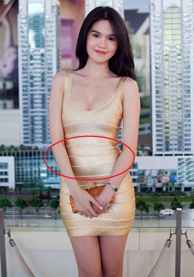 Từng 'muối mặt' vì lộ bụng mỡ 'kém duyên', Ngọc Trinh quyết định 'phục thù' mẫu váy 9 năm trước 4