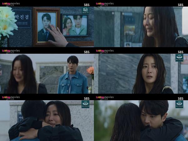 Yoon Tae Yi đột ngột được đưa trở lại năm 2020 khi đang đứng khóc trước bia mộ của Park Jin Gyeom.
