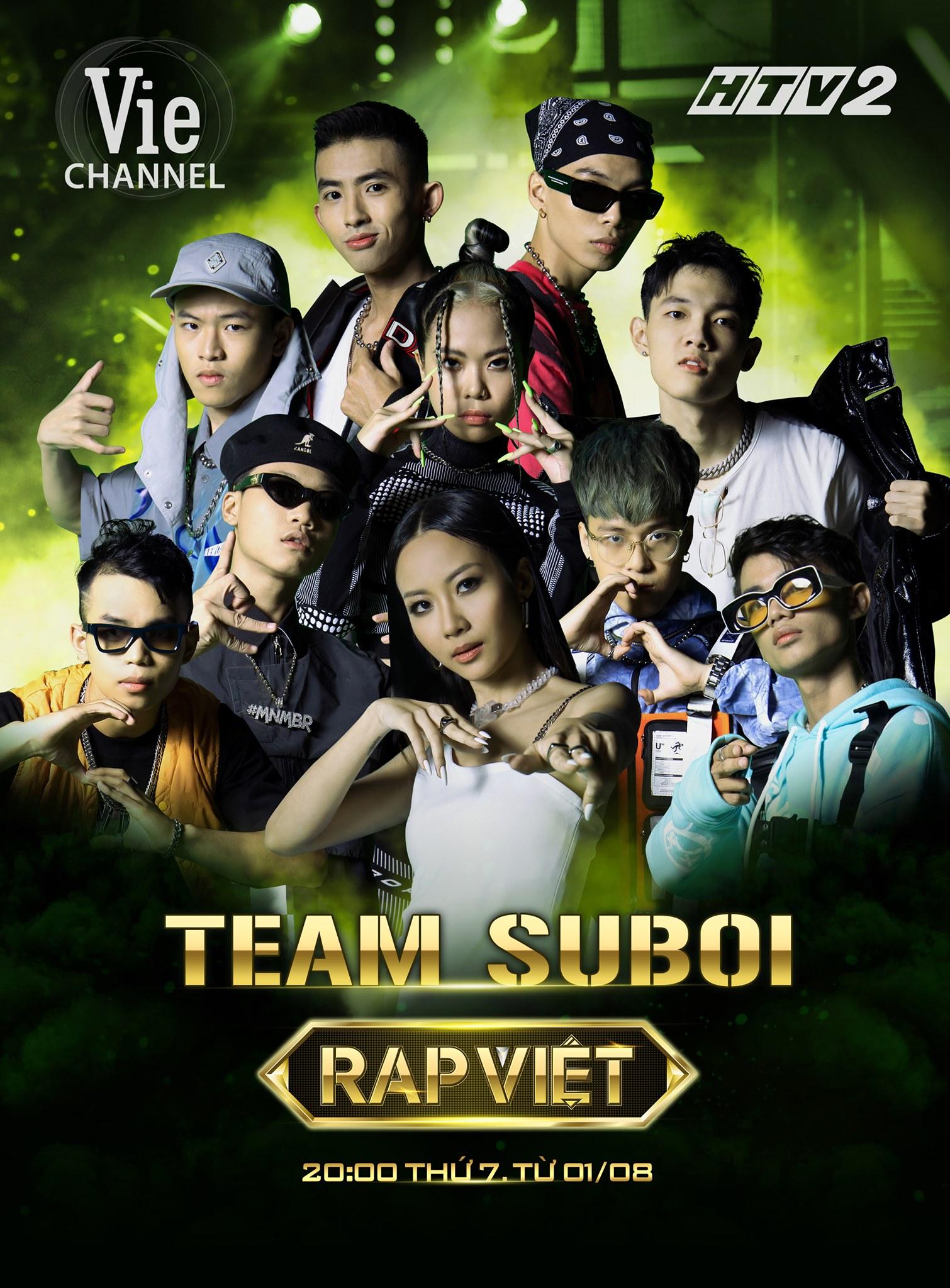 Team Suboi trong 'Rap Việt'.