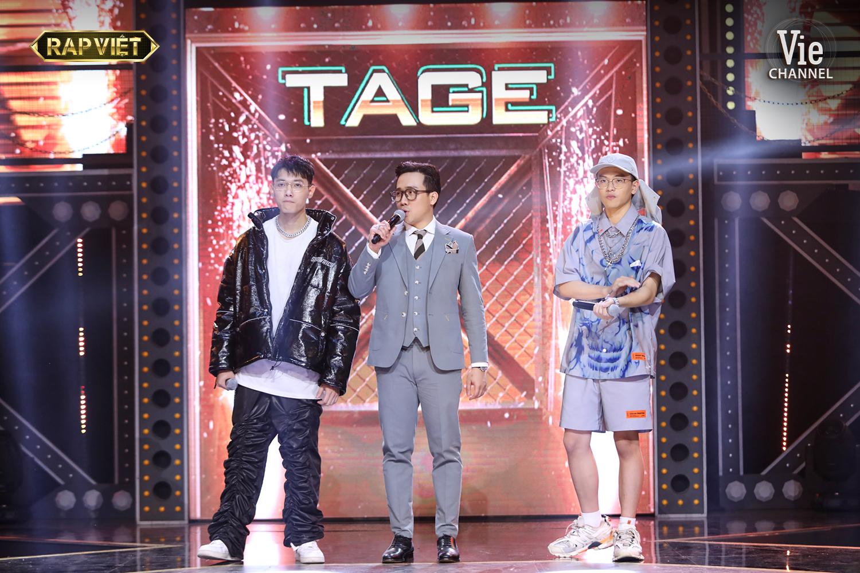 'Rap Việt'tập 9: Suboi ra toàn đề tài 'oái oăm', Tlinh 'diệt gọn' đối thủ, Tage bật chế độ 'không có bố' 12