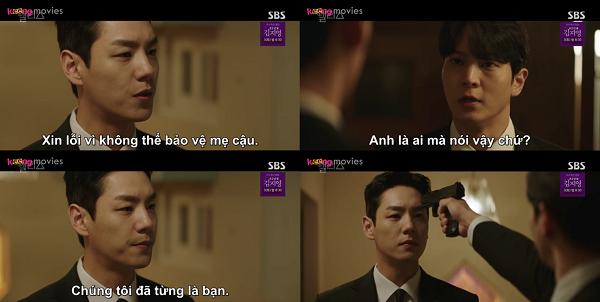 Park Jin Gyeom chĩa súng vào đầu Yoo Min Hyuk mà không biết đây là bố ruột của mình.