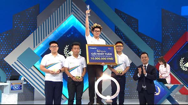 Khoảnh khắc Nguyễn Hoàng Khánh giành giải Nhất tuần. (Ảnh: Đường lên đỉnh Olympia).