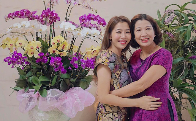 Diệp Chi và mẹ cô lúc bà vẫn còn sống