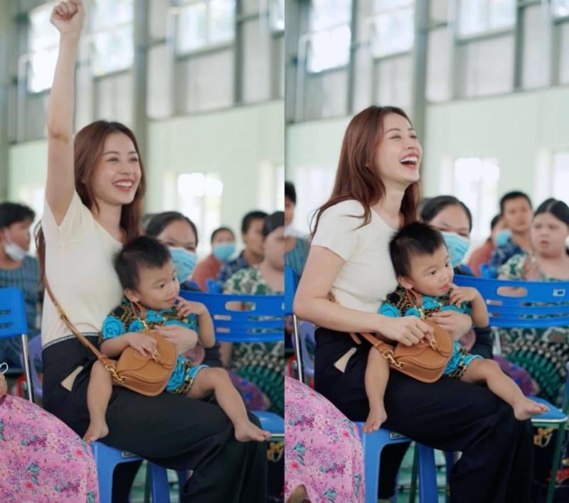 Chi Pu hóa chị Hằng,trao 700 phần quà Trung thu đến người dân tại Phú Yên 8