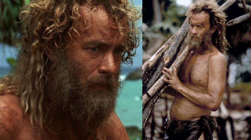 Tom Hanks giảm 25kg để vào vai Chuck Noland.
