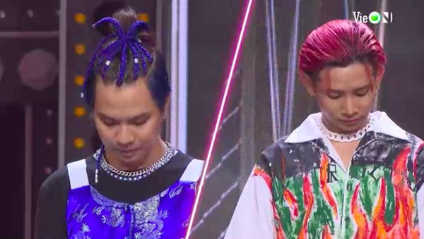 Về kiểu tóc và phong cách ăn mặc, không còn cặp đấu nào hợp lý hơn Ricky Star và RTee.
