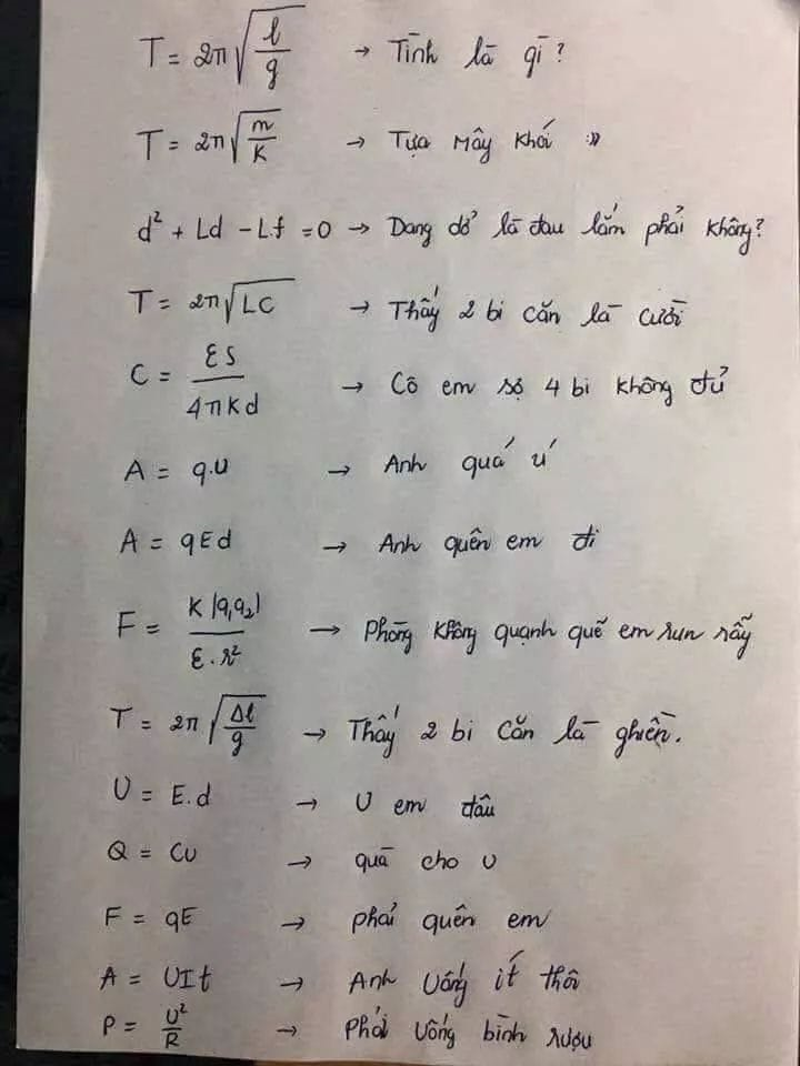 Công thức Vật lý giờ đây chỉ là chuyện nhỏ đúng không nào?
