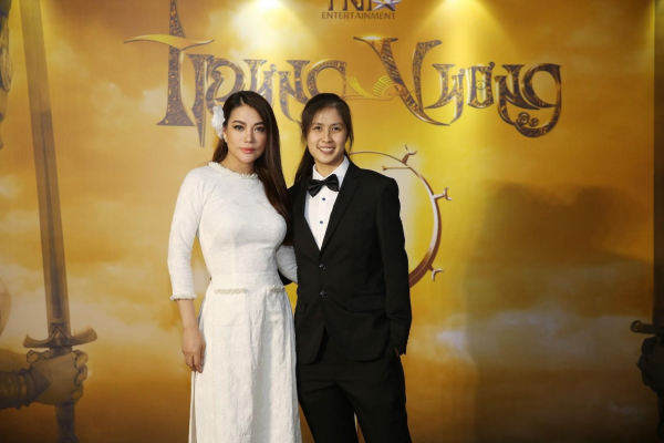 NSX Trương Ngọc Ánh và Janet Ngo trong sự kiện công bố dự án Trưng Vương vào cuối năm 2019