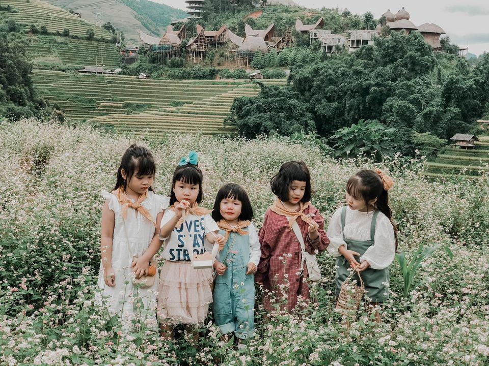 Năm mẹ bỉm dắt 5 cô con gái lên Mù Cang Chải pose dáng, bộ ảnh 'siêu cấp đáng yêu' khiến dân mạng 'bùng nổ' 7