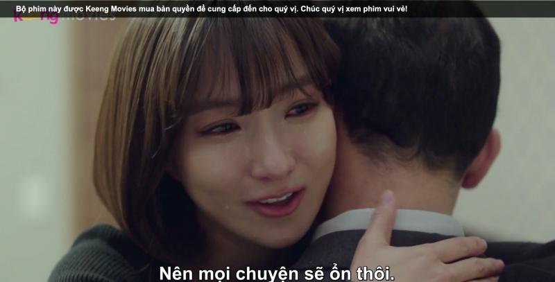 Eun Sil đã biết hết nội tình nên cô cố gắng động viên chồng