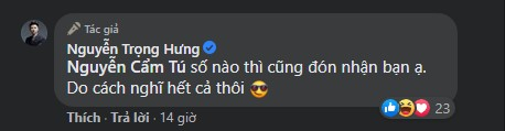 Nguyễn Trọng Hưng đáp trả lại nhận định: 'Một cái tên, hai số phận' của cư dân mạng.