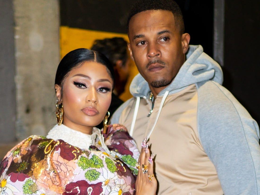 Nicki Minaj và chồngKenneth 'Zoo' Petty.