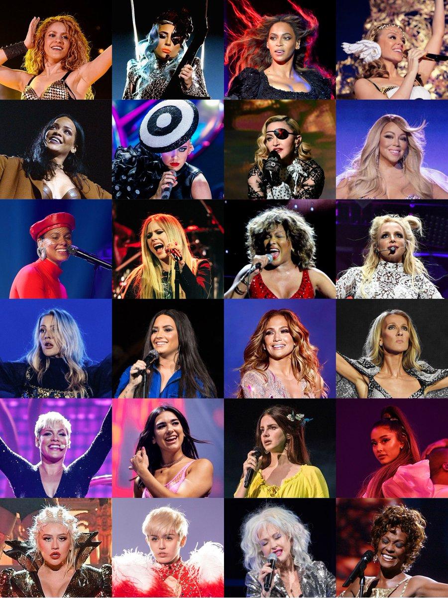 Top nữ nghệ sĩ đi tour qua nhiều nước nhất trên toàn cầu.
