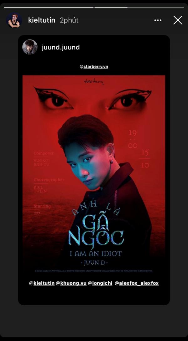 Juun D tung poster cho dự án hợp tác cùng biên đạo của Black Pink 0