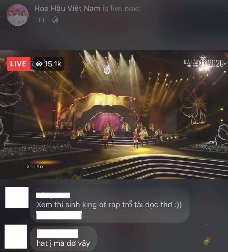 Trên livestream của fanpage Hoa hậu Việt Nam có vài comment chê - khen nhưng công bằng mà nói, sau những comment tiêu cực về giọng rap, Kiều Loan đã có nhiều tiến bộ hơn và khiến đêm thi trở nên náo nhiệt nhờ màn rap sôi động và ý nghĩa của mình.