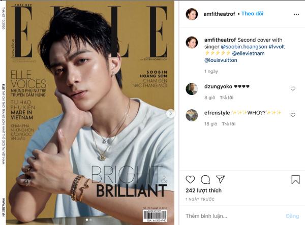 Vừa lên bìa tạp chí Elle, Soobin lại được giám đốc nghệ thuật Louis Vuitton chia sẻ hình ảnh trên Instagram 0