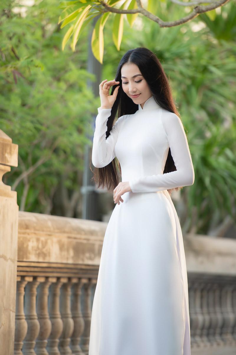 Nhan sắc xinh đẹp của Người đẹp áo dài Bùi Nữ Kiều Vỹ sau 4 năm Hoa hậu Việt Nam 2