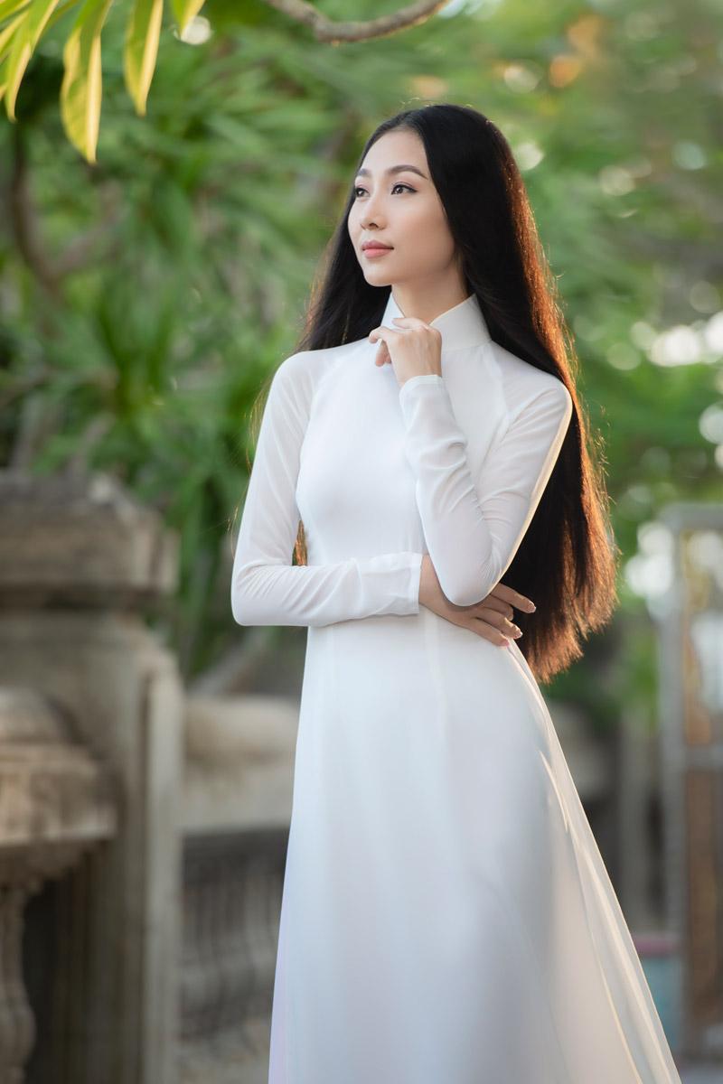 Nhan sắc xinh đẹp của Người đẹp áo dài Bùi Nữ Kiều Vỹ sau 4 năm Hoa hậu Việt Nam 4