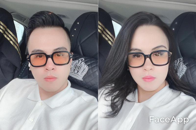 Dân tình thích thú khi với khuôn mặt mình được 'biến đổi giới tính'.