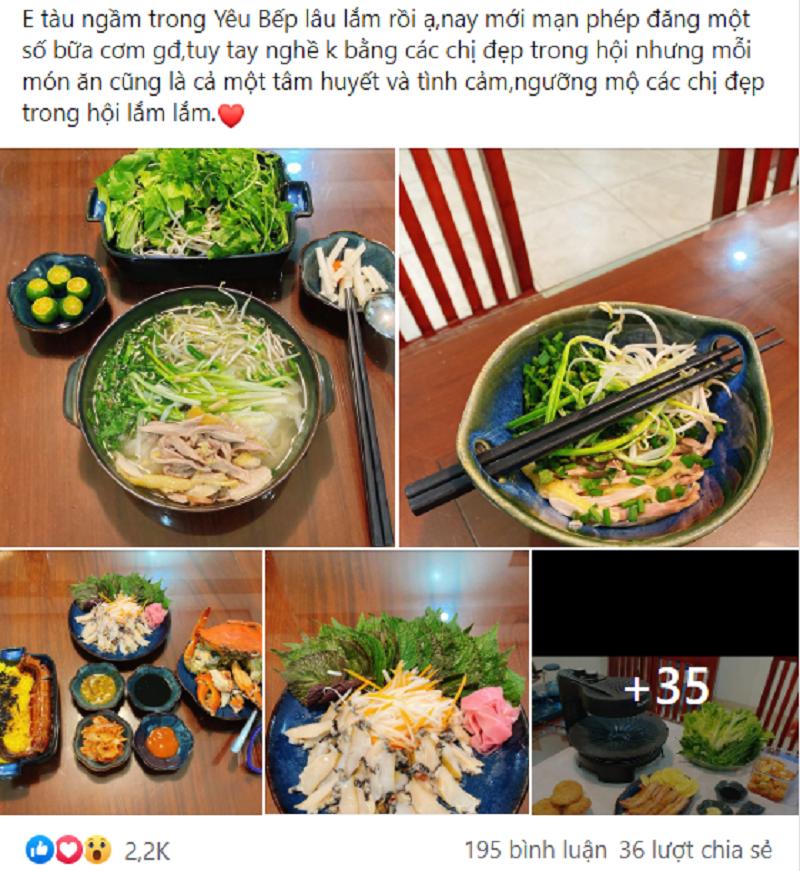 Những món ăn ngon mắt, ngon miệng thường xuyên được các thành viên 'Yêu bếp' đăng tải