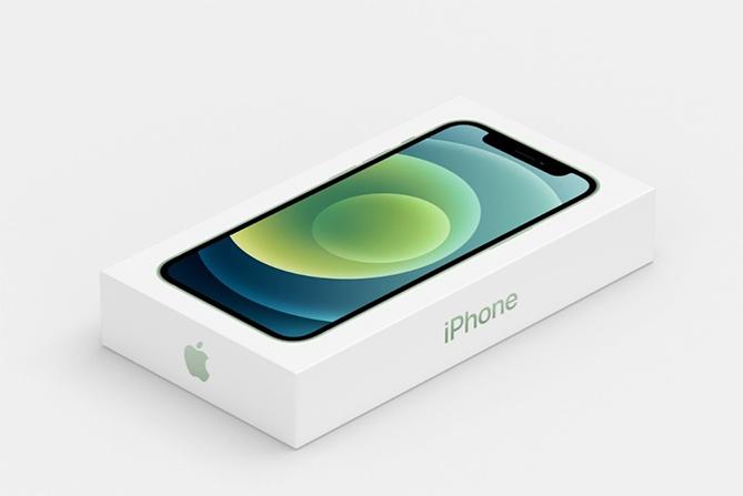 Hộp máy iPhone 12 nhỏ hơn hẳn do bên trong chỉ còn thân máy và cáp sạc. Ảnh: Apple.