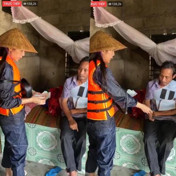 Tiếp tục hành trình thiện nguyện, Thủy Tiên tặng tiền gia đình có chồng bị gãy tay, cả nhà chỉ ăn muối sống qua ngày 0