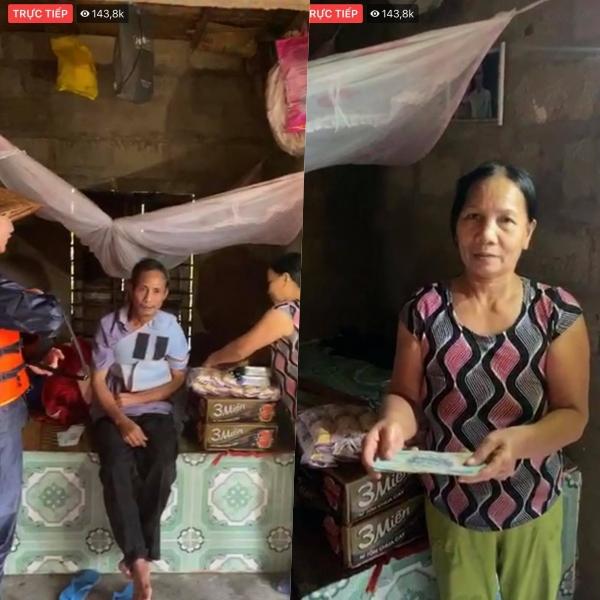 Thuỷ Tiên tặng tiền cho gia đình có chồng bị gãy tay, cả nhà chỉ ăn tạm muối sống qua ngày.