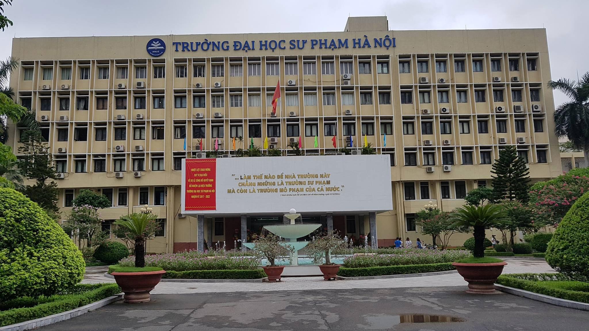 Khuôn viên trường ĐH Sư phạm Hà Nội.