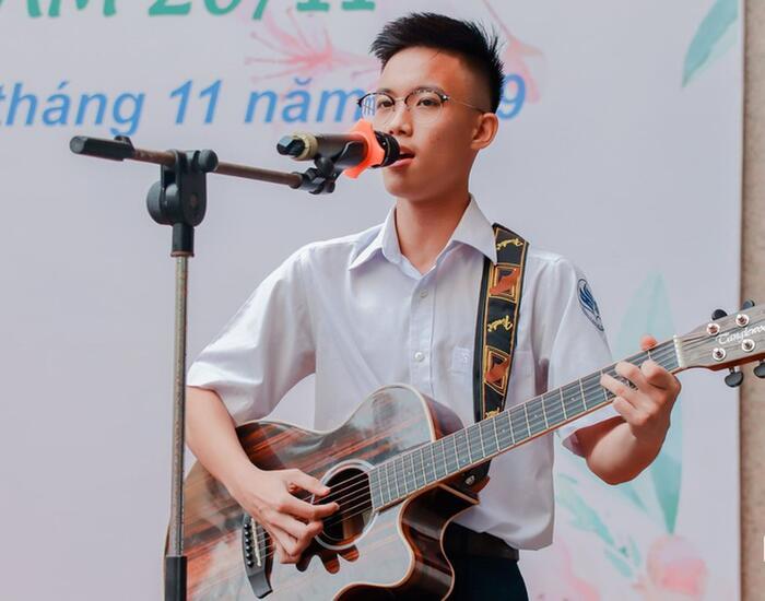 Nam sinh Võ Việt Phương. Ảnh: PTNK