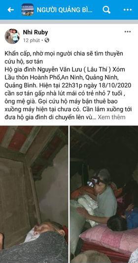 Quảng Bình chìm trong biển nước sau đêm mưa lớn, nhiều nơi bị cô lập 9