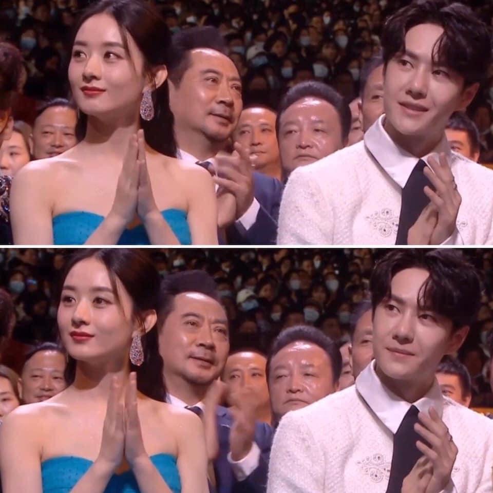 Triệu Lệ Dĩnh - Vương Nhất Bác nhận giải thưởng ở lễ trao giải Kim Ưng.