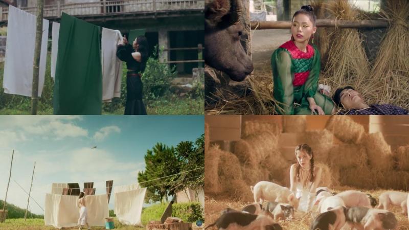 Một số hình ảnh có sự tương đồng trong 2 MV.