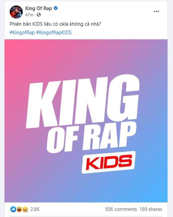 Chỉ là nhá hàng hay King Of Rap KIDS sắp thành sự thật?