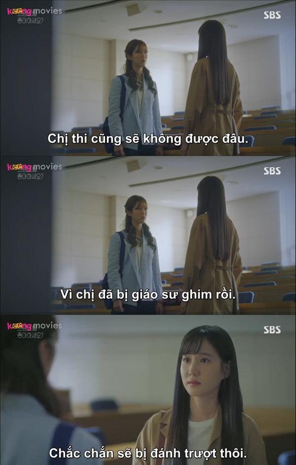 Song Ah vẫn quyết định dự thi cao học dù kết quả có như thế nào.