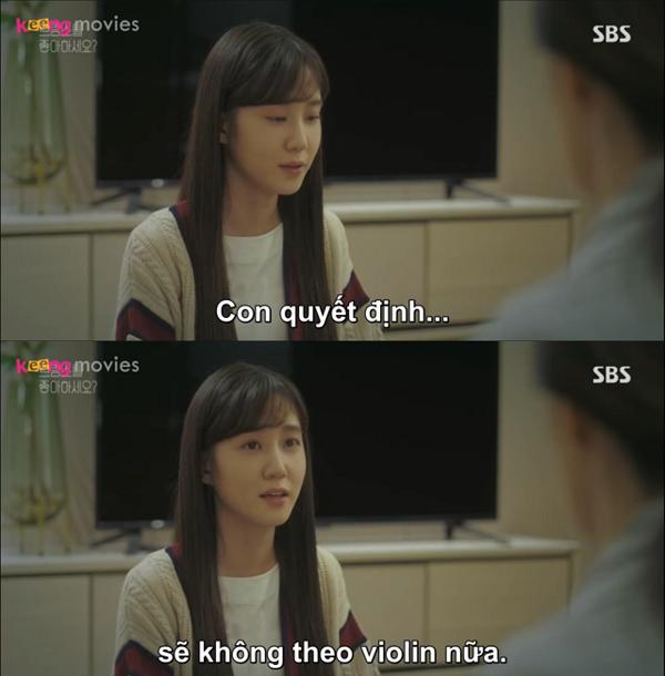 Song Ah thông báo cho cả nhà việc mình ngừng chơi đàn.
