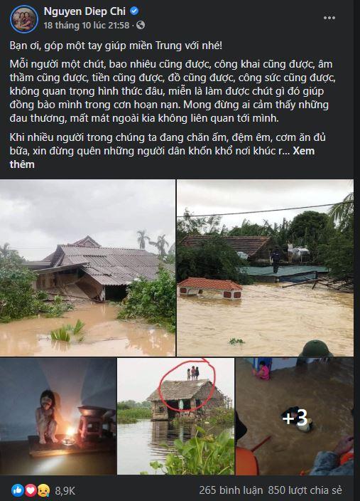 MC Diệp Chi quyên góp 4 tấn gạo giúp đồng bào vùng lũ: 'Làm được gì, giúp được gì, hãy làm ngay lúc này!' 1