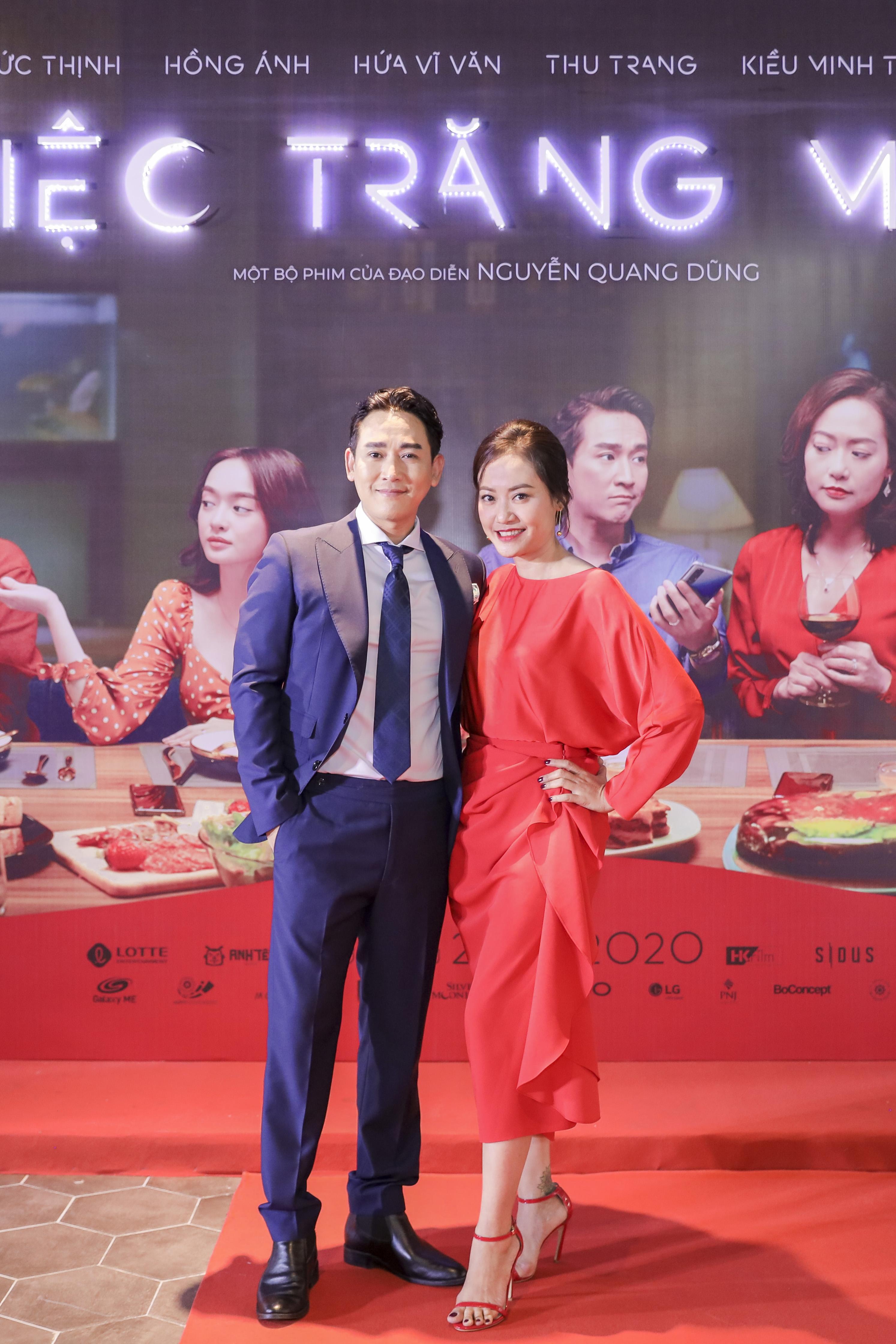 Hồng Ánh và Hứa Vĩ Văn vào vai cặp đôi chủ nhà của bữa tiệc gây tan nát tình thân trong phim